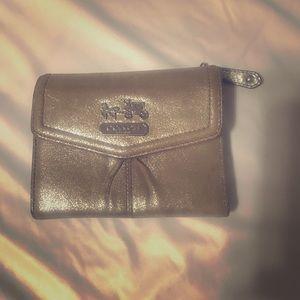 Gold Coach wallet